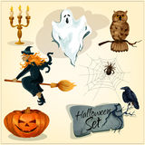 Funny creepy decoration elements for Halloween Stock Photography