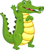 Funny crocodile cartoon Royalty Free Stock Photography