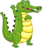 Funny crocodile cartoon Royalty Free Stock Photography