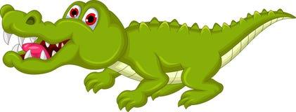 Funny crocodile cartoon Stock Image