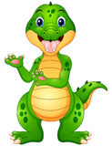 Funny crocodile cartoon presenting Royalty Free Stock Photos
