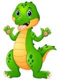 Funny crocodile cartoon waving hand Royalty Free Stock Photography