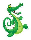 Funny crocodile. Illustration of a funny crocodile Royalty Free Stock Photography