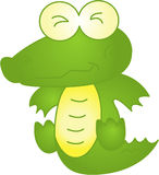 Funny crocodile - vector illustration Stock Images