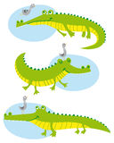 Funny crocodiles Royalty Free Stock Images