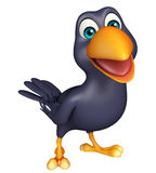 funny Crow cartoon character Royalty Free Stock Image