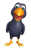 Funny Crow cartoon character Stock Images