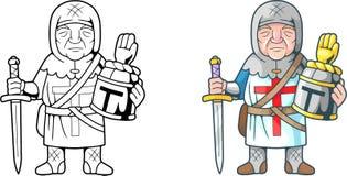 Funny crusader, coloring book. Cartoon funny crusader, coloring book Stock Image