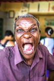 Funny Cuban on the street in Havana, Cuba Royalty Free Stock Images