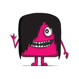 Funny cube dude rocker. Heavy metal. Square. Character. Vector illustration. This is file of EPS10 format Royalty Free Stock Photography