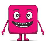 Funny cube dude. Square character. Vector Royalty Free Stock Photography