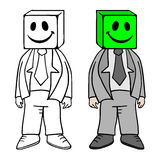 Funny cube mask Stock Images