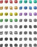 Funny cubes Stock Photos