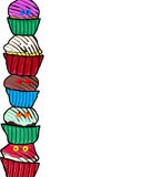 Funny Cupcake Border stock photo
