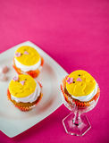 Funny cupcakes Royalty Free Stock Photo