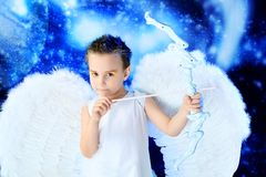 Funny cupid Stock Images