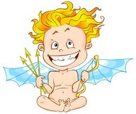 Funny cupid Royalty Free Stock Photos