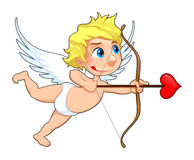 Funny Cupid. Cartoon and vector isolated character royalty free illustration