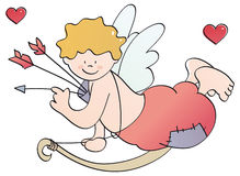 Funny Cupid. Little cupid for san valentines day Royalty Free Stock Image
