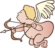 Funny cupid. Illustration of funny cupid with arch and arrow Stock Images