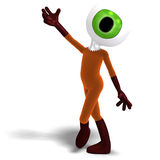 Funny and cute cartoon guy with a great eye Stock Images