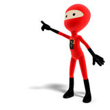 Funny and cute cartoon hero with mask Royalty Free Stock Image
