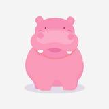Funny cute cartoon of hippopotamus. Stock Images