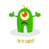 Funny cute cartoon monster Stock Photography