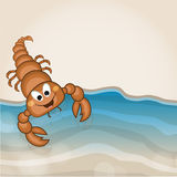 Funny cute cartoon of a scorpio. Royalty Free Stock Photography