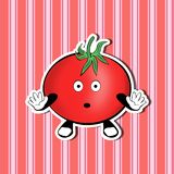 Surprised Cute Tomato on a nice background stock illustration