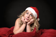 Funny cute Christmas card Stock Images