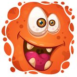 Funny, cute crazy monster character. Halloween illustration. royalty free illustration