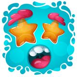 Funny, cute, crazy monster characters. Halloween illustration. royalty free illustration