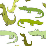 Funny and cute  crocodiles. Vector seamless Royalty Free Stock Image