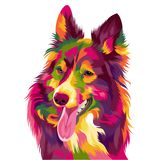 Funny and cute dog vector pop art full colours