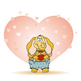 Funny Cute Elephant in Love Royalty Free Stock Photo