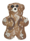 Funny cute gingerbread bear Royalty Free Stock Image