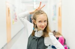 Funny Cute Girl. Royalty Free Stock Photo