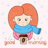 Funny, cute girl characters. Love cartoon vector illustration