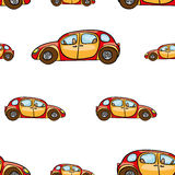 Funny Cute Hand Drawn Kids Toy Transport. Baby Bright Cartoon Car Vector Seamless Pattern On White Background. Set Of Isolated Ele Royalty Free Stock Photos