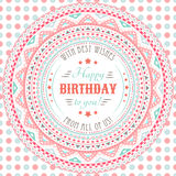 Funny cute happy birthday card. Typography letters Royalty Free Stock Photography