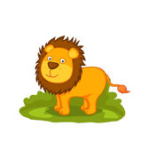 Funny cute lion cartoon. Royalty Free Stock Image
