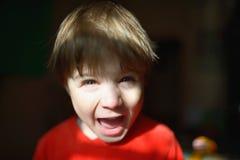 Funny cute little boy in sunbeam Royalty Free Stock Image
