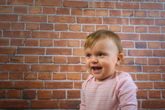 Funny cute little girl smile and playing with mother Royalty Free Stock Images
