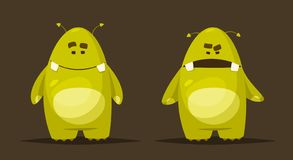Funny cute monster character. Cartoon vector illustration. royalty free illustration