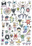 Funny Cute Monsters Royalty Free Stock Photos