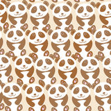Funny cute panda seamless background, pattern. Vector Royalty Free Stock Photos