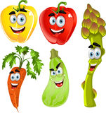Funny cute peppers,asparagus,carrots,zucchini royalty free stock images