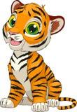 Funny cute tiger cub stock illustration