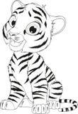 Funny cute tiger cub vector illustration